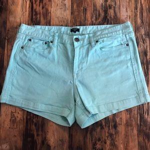 J Crew Teal Denim Shorts